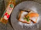 Рецепта Щрудел с плънка от ябълки, стафиди, заквасена сметана и канела